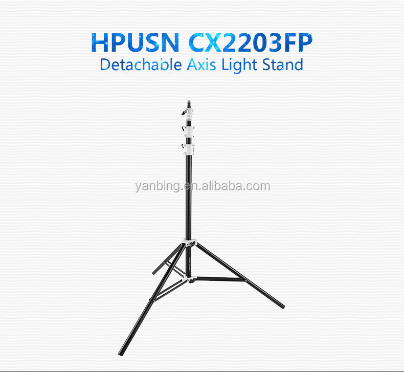 Photographic Equipment HPUSN Photo Studio Flexible Detachable Light Stand 2.2M