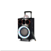 Portable Bass Subwoofer Audio 8 Inch Professional Active DJ Speakers With Disco Ball Light