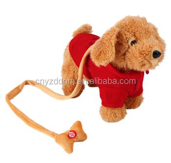 Funny Electronic Plush Dog Toys Musical Singing Walking Talking