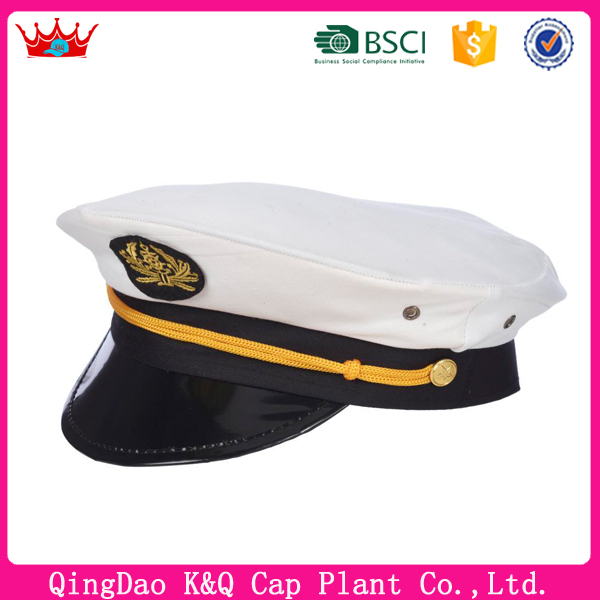 OEM customized personalized black and white captain sailor hat