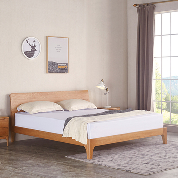 Bedroom Furniture Nordic Style Solid Wood Queen Beds For Sale