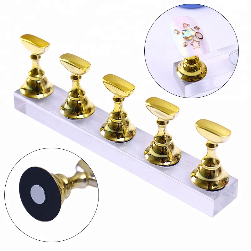 Alibaba.com / Magnetic Nail Holder Practice Training Display Stand TipsHolder Board Salon Tool DIY NT206