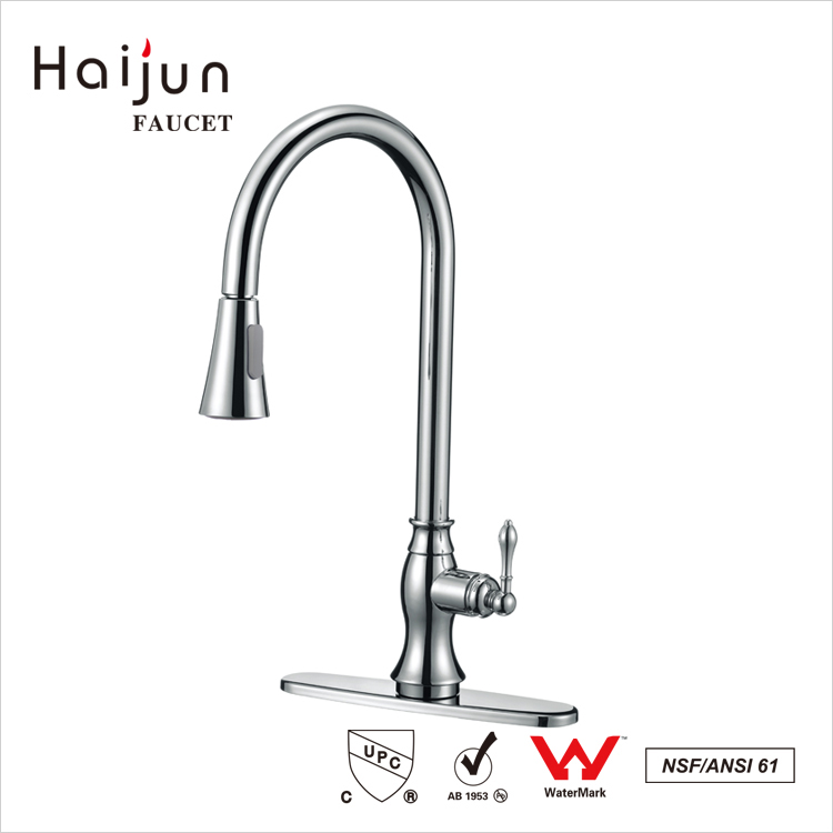 Haijun 2017 Cheap Luxury Home Deck Mounted Single Hole Kitchen Faucet