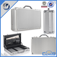 Silver professional silver handmade aluminum briefcase tool box