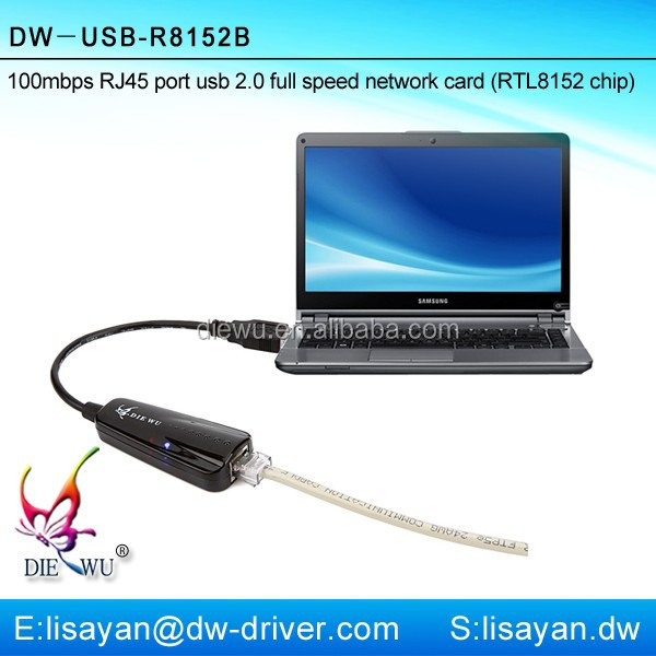Realtek 8152 chipset usb 2.0 to lan card driver