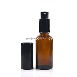 wholesale empty 30ml amber perfume glass pump spray bottles with perfume sprayer