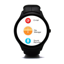 Free shipping NO.1 D5 Smartwatch 1.3″ 360×360 Android 4.4 OS 512MB + 4GB MTK6572 Smart Watch with GPS Wifi Bluetooth Heart Rate