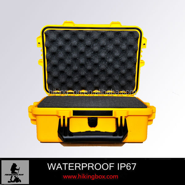 shockproof security and protection hard plastic military gun case