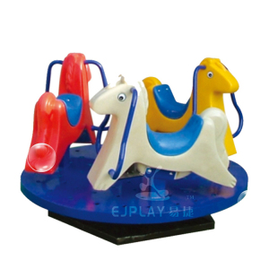 Three Horse Kids Amusement Outdoor Spring Rocking Horse