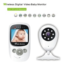 2016 New Baby Monitor 2 4 inch LCD IR night vision 2 way talk 4 Lullabies