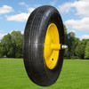 "14"" Line pattern pneumatic rubber wheel for wheelbarrow"