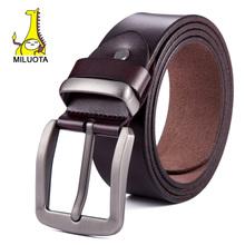 [MILUOTA] 2015 Fashion mens belts luxury genuine leather belts for men casual belt brand ceinture male meatal buckle WND005