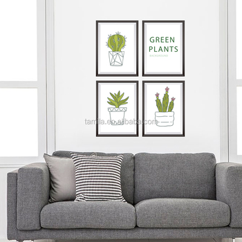 Cactus Succulent Plant Photo Frame Drawing Diy Tv Background Living ...