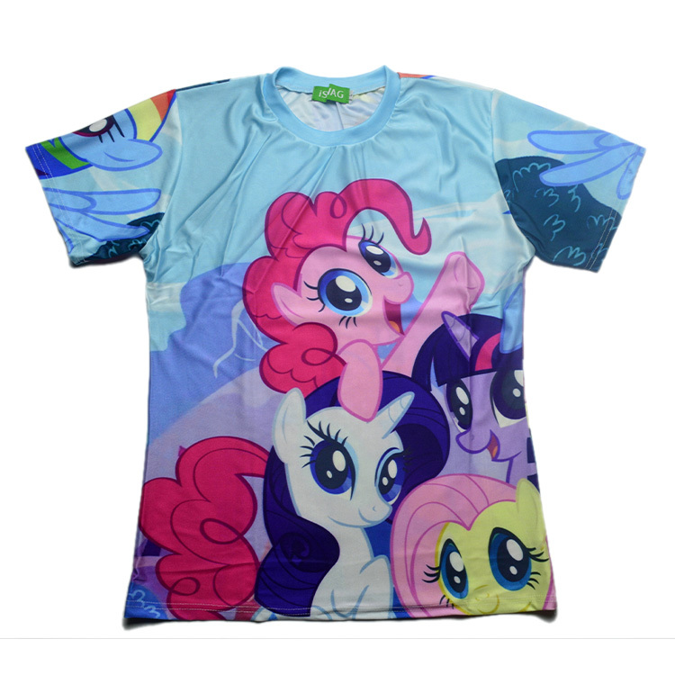 Free Shipping 2015 New high quality Men's Short Sleeve T shirt Fashion Men/Women My Little Pony Print 3D t-shirt S M L XL