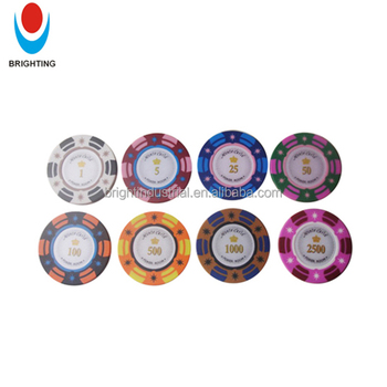 13.5g 3-Color Argilla Sticker Poker Chip con Alta Rullo Adesivo