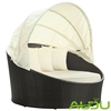 Audu Single King Rattan Round Sofa Bed With Canpoy