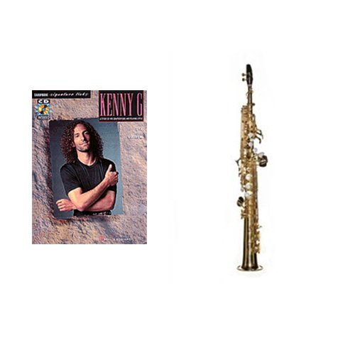 Beginner Soprano Sax Play Along Pack- Kenny G Signature Licks Book & Soprano Sax w/Case, Accessories & Warranty