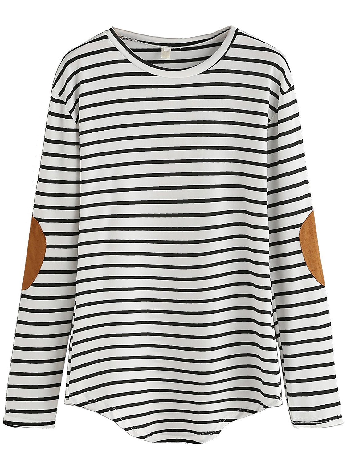 JJ-daidai Womens Round Neck Casual Red Stripes Long-Sleeved T-Shirt