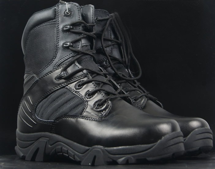 LOVESLF black army military boots High quality high heel desert army boots for <strong>men</strong>