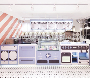 Ice cream store commercial furniture design for ice cream shop decoration