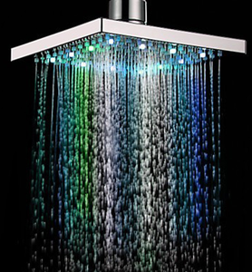 Hot sale ABS plastic bathroom saving water eco spa led colorful ceiling shower head