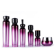Custom printed 15ml 30ml 50ml 100ml 120ml spray pump empty purple hair oil cosmetic glass dropper packaging bottle with labels