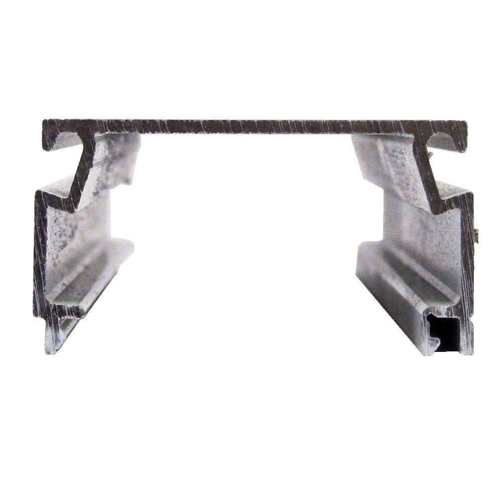 Screen Tight 1 in. x 2 in. x 8 ft. Bronze Fast Track Self-Mating Porch Screening Channel