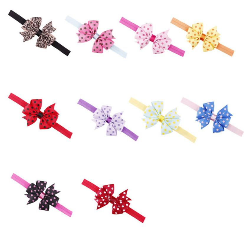 2015 new Lovely Children s Elastic Force Hair Band Princess Baby Girl Bowknot Hairband