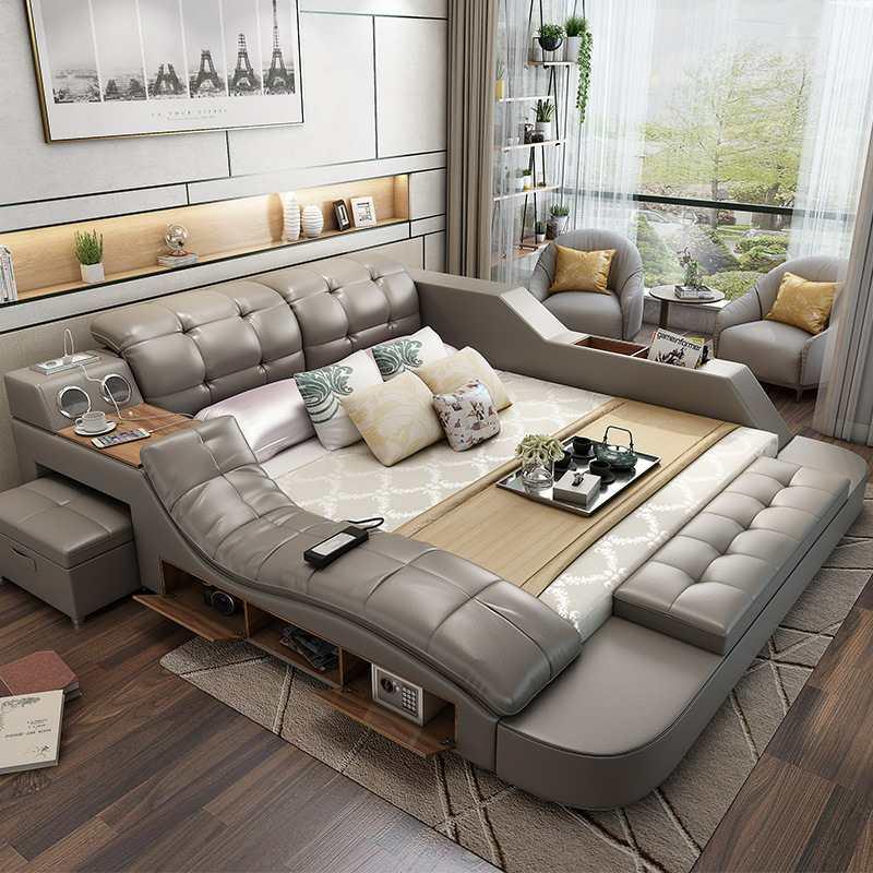 Fashion Design Modern Multifunctional Bed Tatami 5 Parts