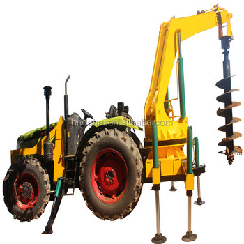 Convenient rear screw drill tree digging machine