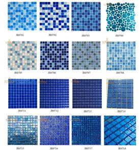 Swimming Pool Glaze Glass Mosaic Tiles for Sale