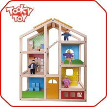 Children Family Play Wooden Miniature Furniture Toy wood house