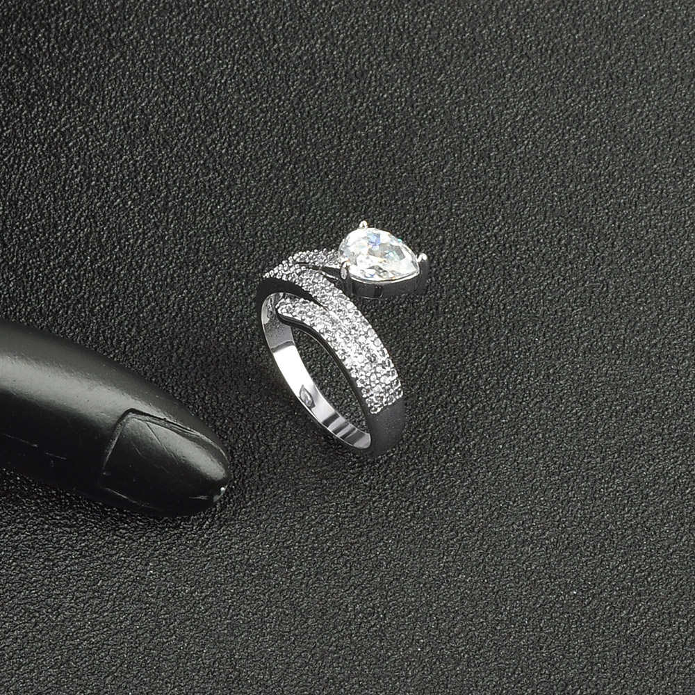 Factory Price Unique Designs Promise White Gold Diamond Engagement Ring
