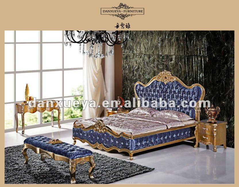Best Quality In China Hot Sale Gold Gilded Bule High Head Board ...