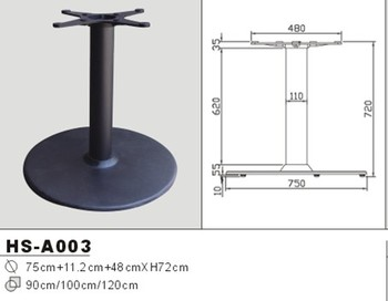 Hsa Round Table Base Cast Iron Leg For Cafe Table Sipder Table - Cafe table legs
