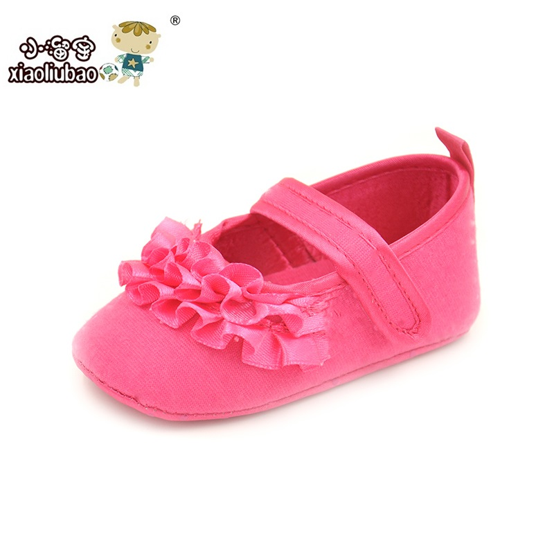 2016 Spring Autumn Newborn Baby Shoes Branded Baby Girls First Walkers Dot Lace Hook Loop Princess Non-Slip Cotton Infant Shoes