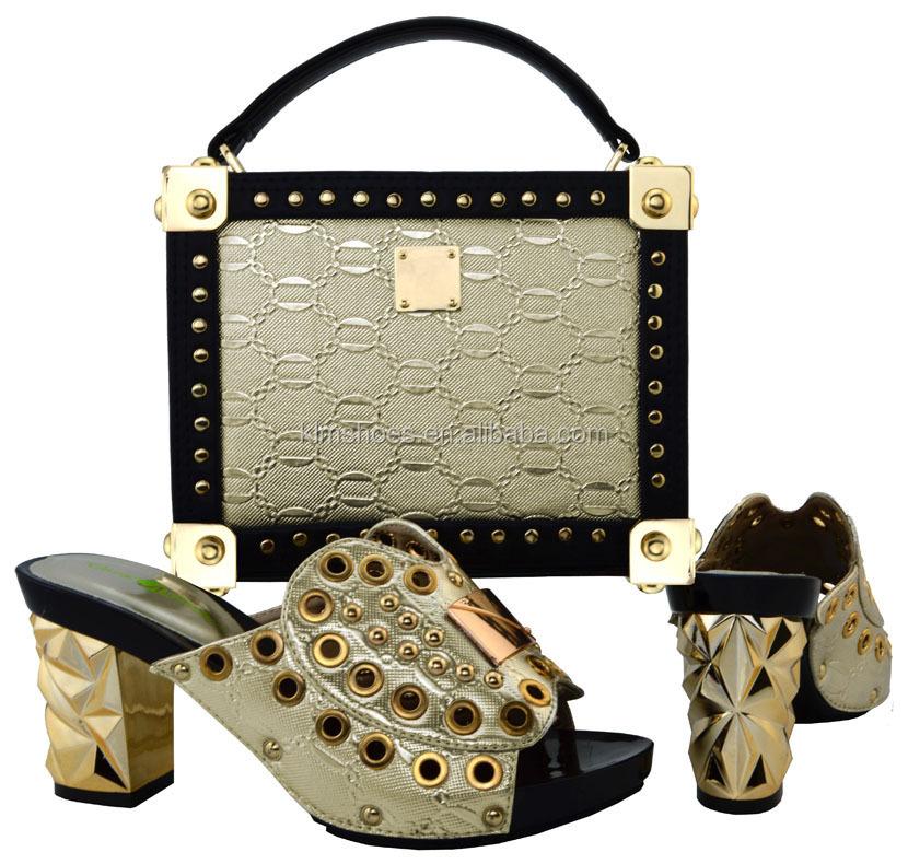 Italian Women Sandal Italy Set High Shoe Bag Heels And African Matching Summer Bag Shoe Shoe Set And 21 And Set Wedding Bag BCH rqrpF