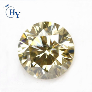 Wholesale stone light yellow synthetic loose moissanite gems for engagement rings