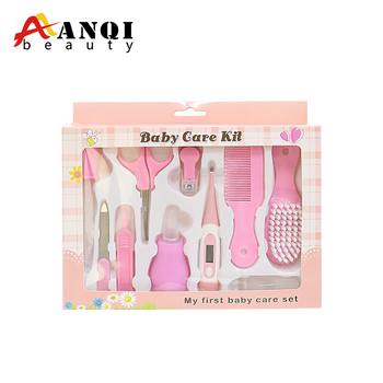 FREE SAMPLE 2019 HOT SALE High Quality 10pcs Baby Manicure Pedicure Kit Baby Care Set