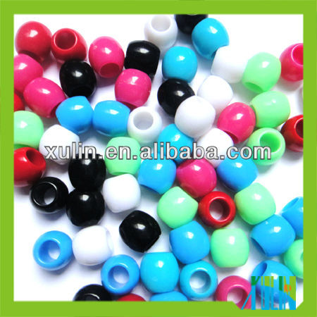 hottest high quality various colors acrylic large hole barrel beads