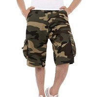 New Custom Wholesale Mens Cargo Short Pants Classic Relaxed Fit Casual Camouflage Shorts with Pockets