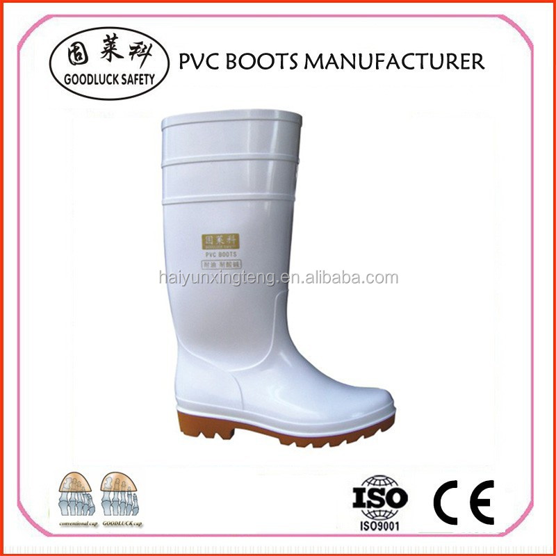 Farming Steel Toe Insert Safety Boots PVC Working Boots