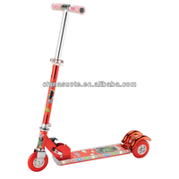 Latest product professional designers stand up 3 wheel kick light and music three wheel scooter