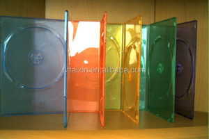 5mm/7mm/9mm/14mm single/double colorful dvd case clear