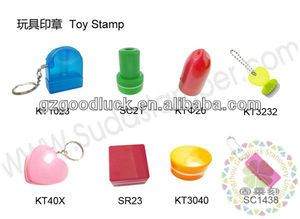 Custom ring type toy plastic self inking stamp/Cartoon ring type toy plastic self inking stamp