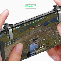 S4 Metallic Aim and Shoot Mobile Game Controller --Fire L1R1 Buttons for Gaming Joystick Black