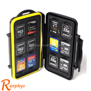 Ranphys wholesale 6TF+6SD waterproof micro sd card holder portable card bag