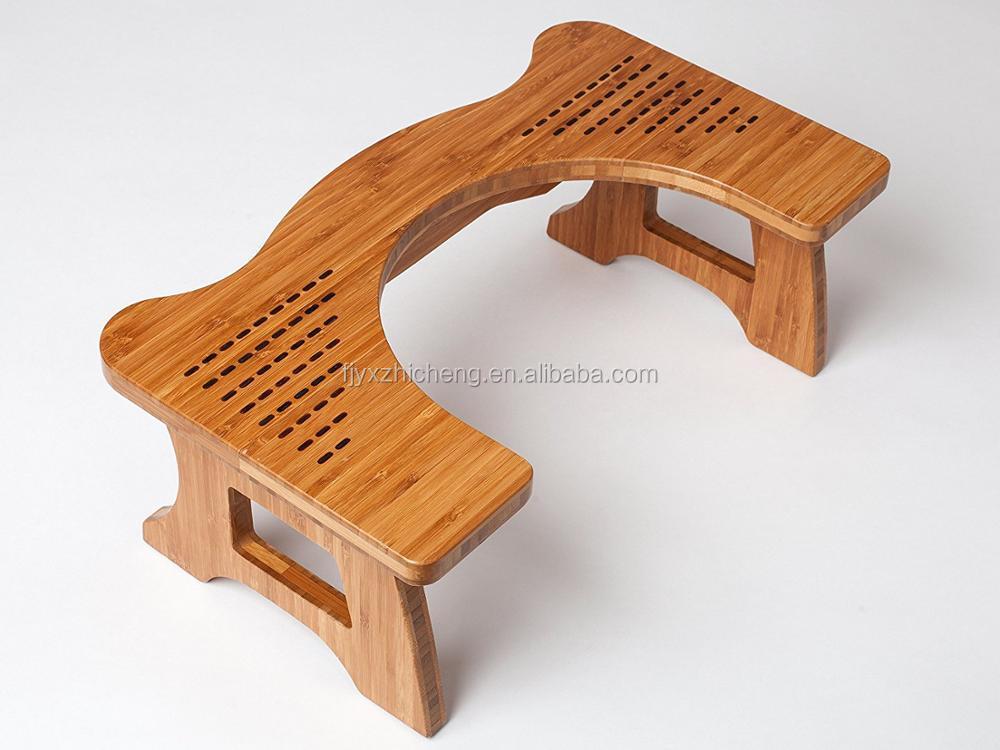 Naturale di bambù bagno wc sgabello eco friendly durevole e