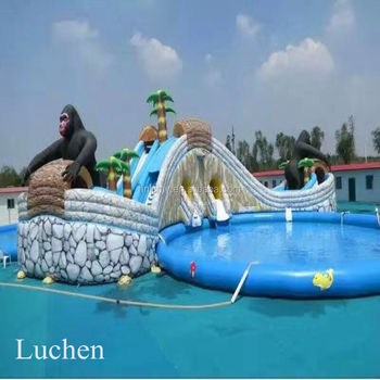 30ft Tall Dubai Home Portable Swimming Pool Water Slide