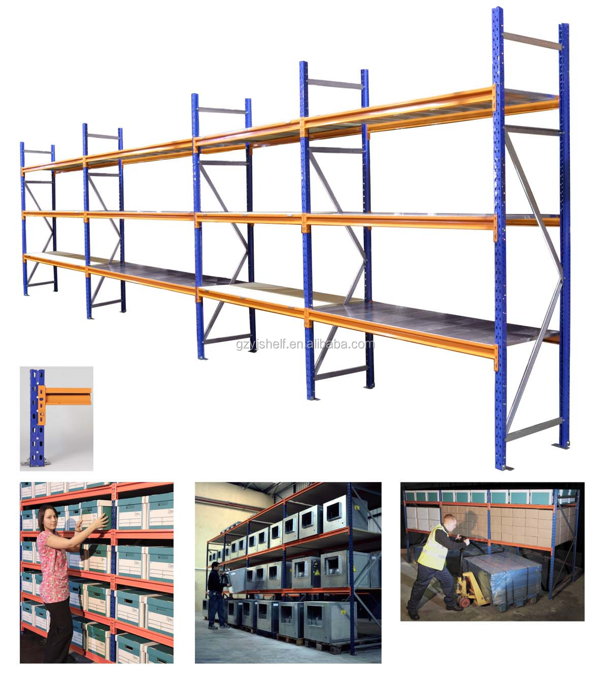 rack end storage product accessories of warehouse protectos products aisle protection racks with pallet protectors